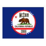 McCain CALIFORNIA Postcard