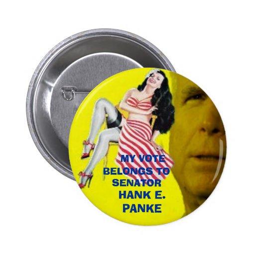 McCain Candystripe Pinup Button
