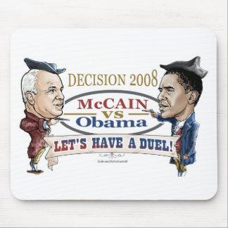 McCain contra el duelo de Obama Alfombrillas De Raton