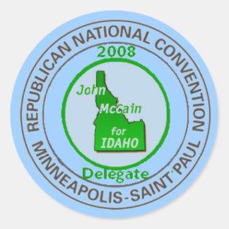McCain IDAHO RNC Sticker
