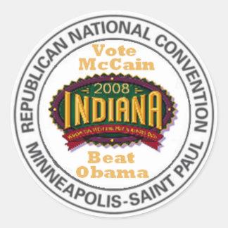 McCain INDIANA RNC Sticker