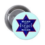 McCain ISRAEL apoya el botón Pins