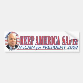 McCain Keep America Safe Bumper Sticker