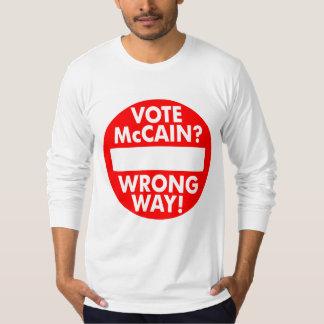 ¿McCain? ¡Manera incorrecta! Camiseta Playeras