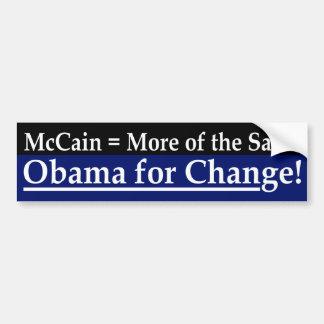 McCain = más de la misma pegatina para el parachoq Pegatina Para Auto