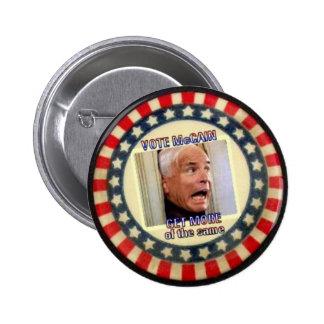 McCain más del mismo botón Pin Redondo De 2 Pulgadas