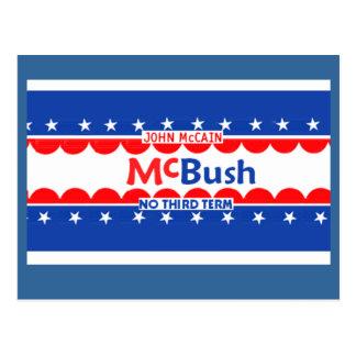 McCain McBUSH Postcard