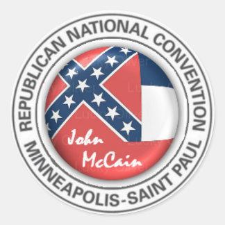 McCain MISSISSIPPI RNC  Sticker