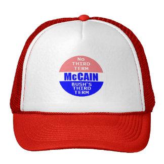 McCAIN NO THIRD TERM Hat