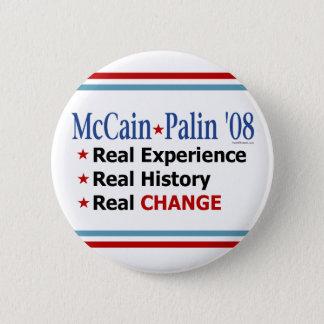 McCain Palin '08 Real Change Button