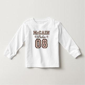 McCain Palin 08 Toddler Long Sleeve Tee Shirt