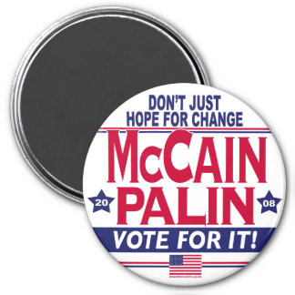 McCain Palin 2008 3 Inch Round Magnet
