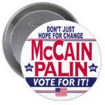 McCain Palin 2008 4 Inch Round Button