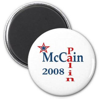 McCain Palin 2008 Imán Redondo 5 Cm