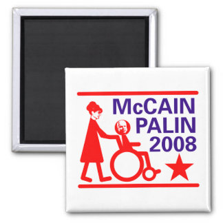McCain Palin 2008 2 Inch Square Magnet