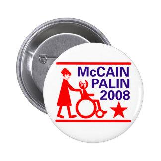 McCain Palin 2008 Pinback Button