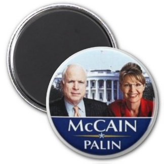 McCain Palin 2 Inch Round Magnet