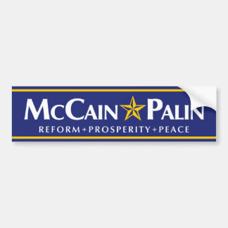 McCain-Palin Bumper Sticker Car Bumper Sticker