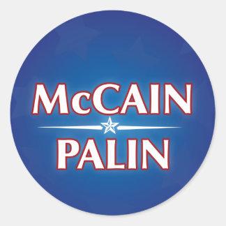 McCain_Palin_classic Classic Round Sticker