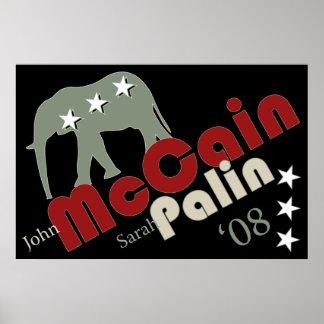 McCain Palin de 'bandera 08 posters