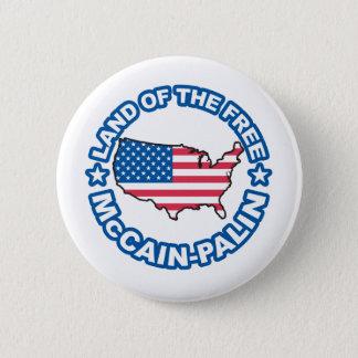 McCain Palin Land of teh Free Button