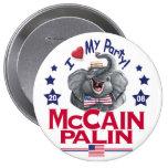 McCain Palin Love My Party Button