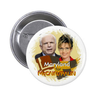 McCain/Palin Maryland Button