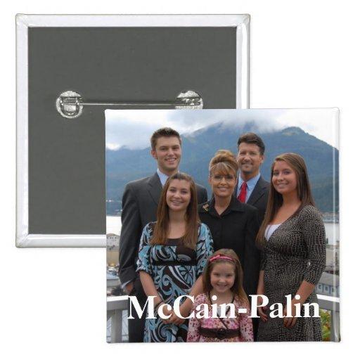 McCain-Palin Pin Cuadrado
