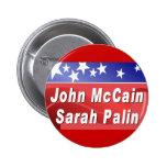 McCain / Palin Pinback Buttons