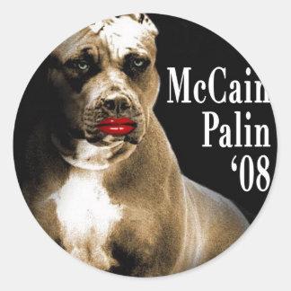 McCain Palin PIt Bull Campaing Sticker