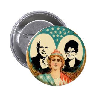 McCain Palin Retro Button