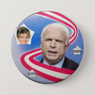 McCain / Palin Ribbon Button