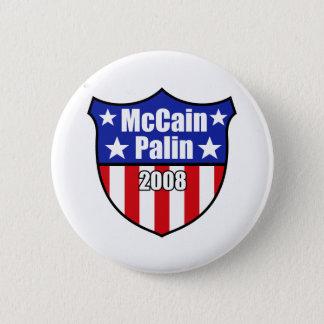 McCain Palin Shield Pinback Button