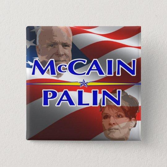 Mccain Palin Square Pin