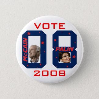 McCain Palin VOTE 2008 Pinback Button