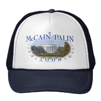 McCain Palin White House 2008 Trucker Hat