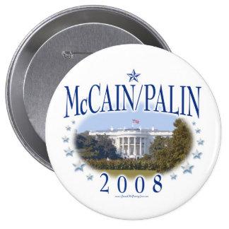 McCain Palin White House 2008 Pinback Button