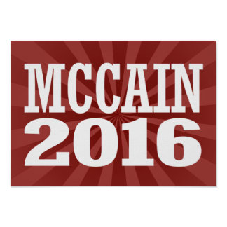 McCain para el senado 2016 Póster