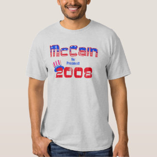 McCain para presidente T-shirt Playeras