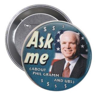 McCain pide que abotone Pin Redondo 7 Cm