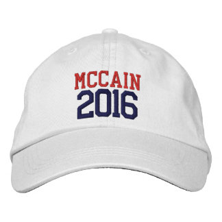 McCain President 2016 Embroidered Hats