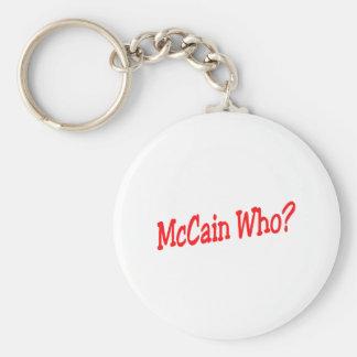 McCain que Llavero Redondo Tipo Pin