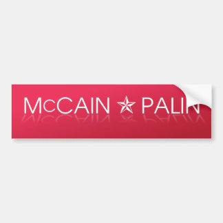 McCain * republicano de Palin Pegatina De Parachoque