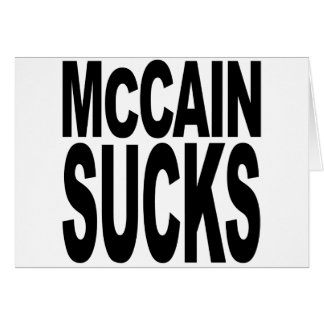 McCain Sucks Card