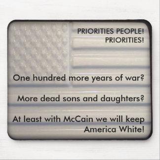 McCain T-Shirt - Priorities Mouse Pad