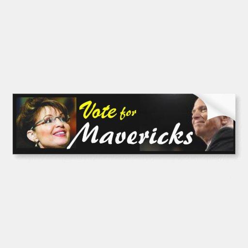 mccain, Vote, Maverick,mccain plain, john mccain Bumper Stickers