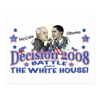 McCain vs Obama 2008 Postcard