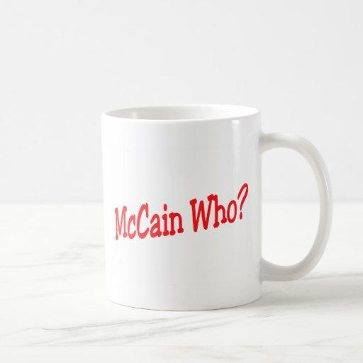 McCain Who Classic White Coffee Mug