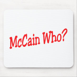 McCain Who Mouse Pad