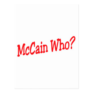 McCain Who Postcard
